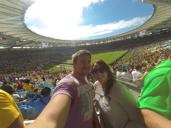 World Cup game in the Maracana Stadium, Rio, Brazil
