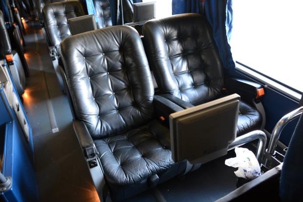 Luxurious bus journey