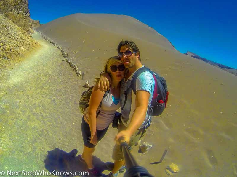 hiking in atacama desert