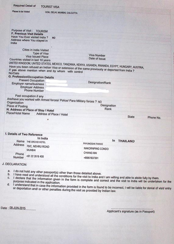 getting an indian visa in chiang mai