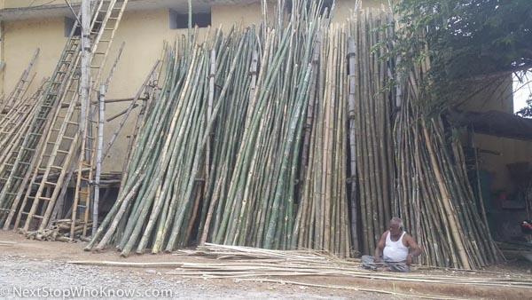bamboo ladders