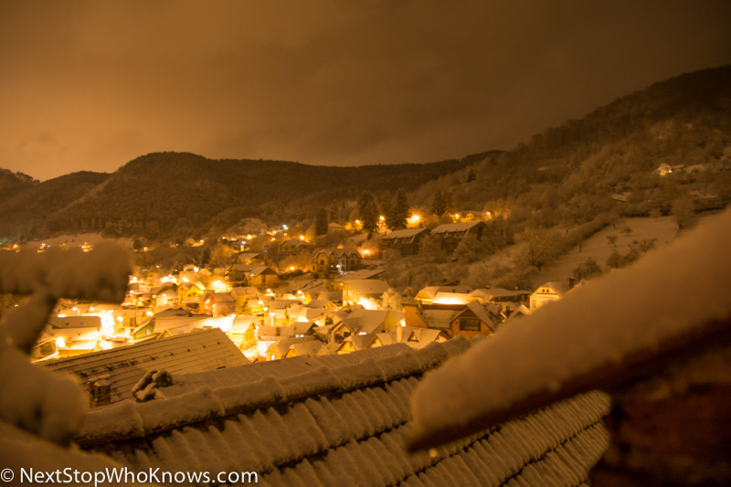 brasov view from guesthouse