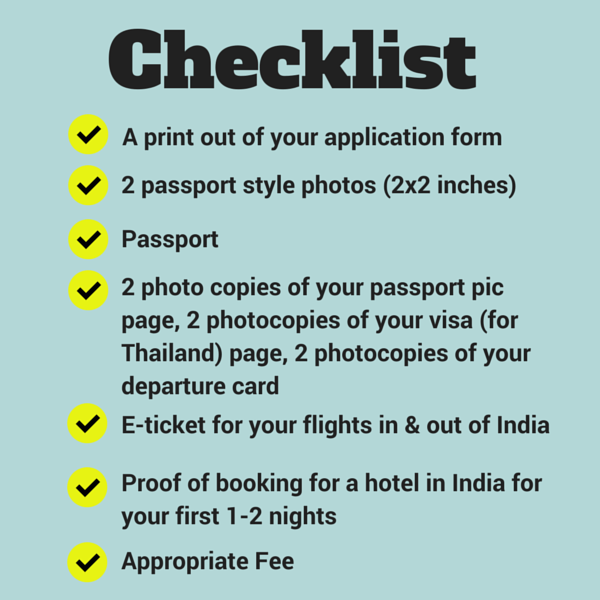 How To Get An Indian Visa In Chiang Mai Thailand