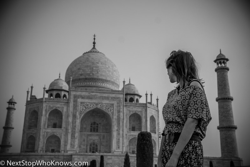 florence at the taj mahal