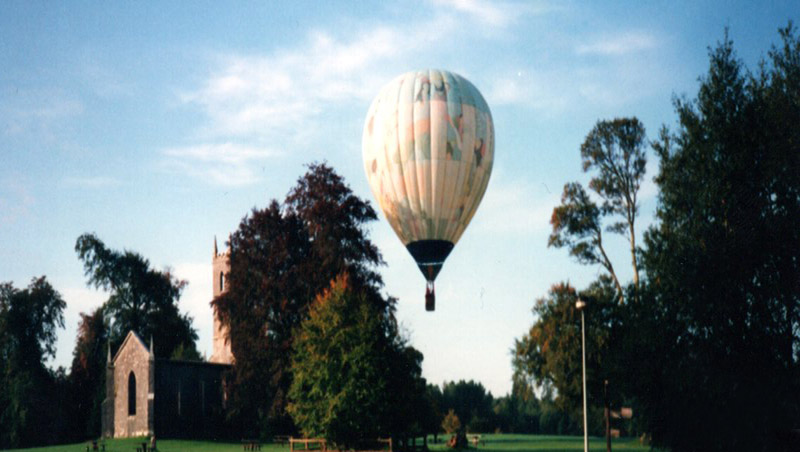 hot air balloons in Boyle circa 1980s