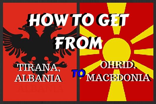 get from tirana to ohrid
