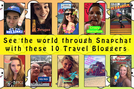 travel bloggers on snapchat